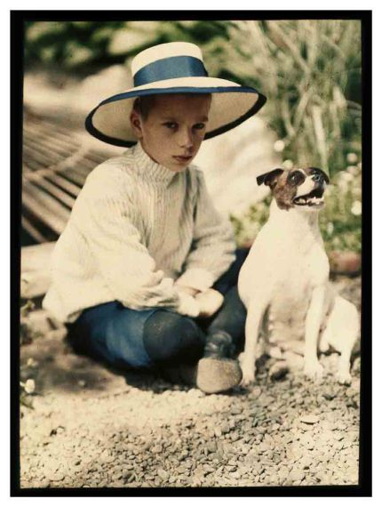 YALTA: GYPSY LAD WITH DOG: 1910/11 CARE OF COLLECTION FO MOSCOW PHOTOGRAPHY MUSEUM 2013
